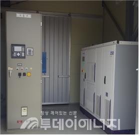 충전소 내 설치된 ESS.
